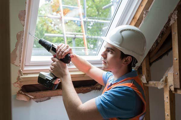 Energy efficient window installation.